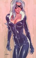 Black Cat fanart. by AdamKmiolek