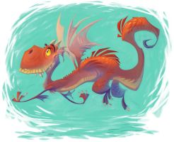 red dragon by goosezilla