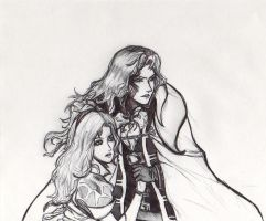 Alucard and Maria by Alicart