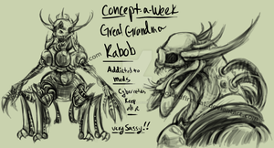 Concept a Week 03- Great Grandma Kabob by Spottedfire-cat