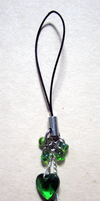 Green Heart Charm by BloodRed-Orchid