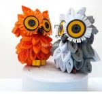 3D Quilling:Little Owls by Kurlikins