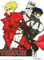 TRIGUN's Vash and Wolfwood by ArthurT2015