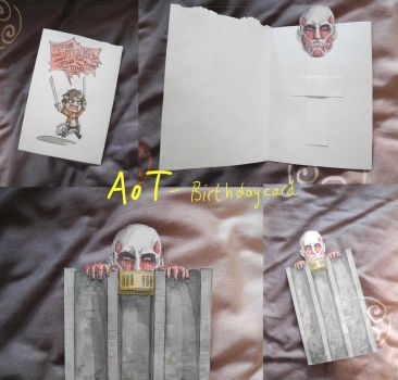 Attack on Titan birthday card by princetheripper33