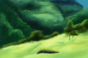 speed paint hillside by VampireDinosaur