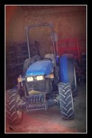 Blue tractor. by jennystokes