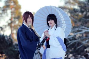 Kenshin and Tomoe by Anniina85