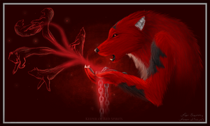 .Keeper Of Red Spirits. -Gift by Littlelinky
