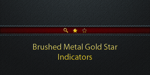 Gold Metal Star Indicators by discordante