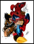 Spidey vs Wolverine Colors by Onore-Otaku
