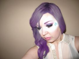My Little Pony Rarity Inspired Cosplay Makeup by nikkipandahat