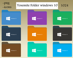 Yosemite Folder  windows 10 by lahcenmo
