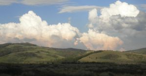 Colored clouds and Rolling hills by PicklesAndPigtails