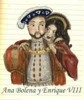 royal love - anne and henry by Griselibiris