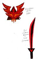 Fireblast Logo and Evil Vanessa's Sword by RedJoey1992