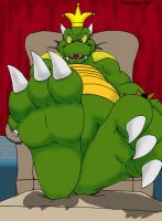 At King Koopa's feet by Giran-