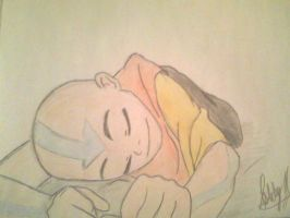 Sleeping Avatar Aang by AangAddict