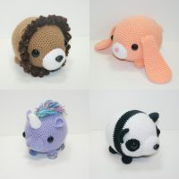 Chubby animals by Heartstringcrochet