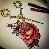Scissors / Rose by EdwardMiller