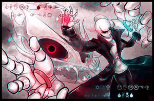 You killed Sans...- W. D. Gaster - GlitchTale by WalkingMelonsAAA