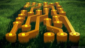 Circuits on grass by noistromo