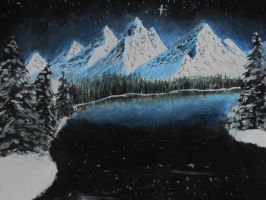Night Mountain Landscape by Digg409