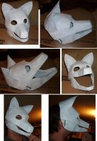 wolf mask progress by Merkindesr