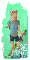 Flower boy by LadyAsakura