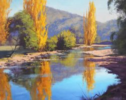 Tumut River Painting by artsaus