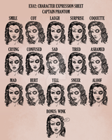 Captain Phantom: Character Expression Sheet by tbdoll