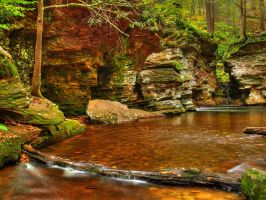 Ricketts Glen State Park 109 by Dracoart-Stock