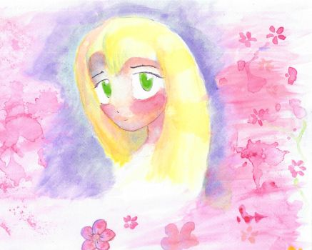 Anime Watercolor Girl by Corax2009
