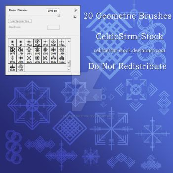Geometric Brushes by CelticStrm-Stock by CelticStrm-Stock