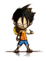 mini Luffy by Mzag
