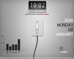 Brain Switch - Rainmeter Desktop by KreDoc
