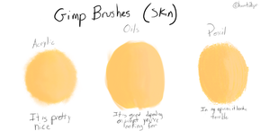 GIMP Brushes (Skin) by heart2bpr