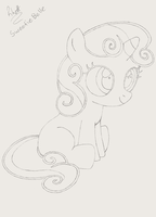 Sweetie Belle Sketch by Scoutaloo