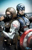 Wintersoldier and captain america by glencanlas