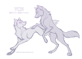 YCH Wolf couple (OPEN) by Mistrel-Fox