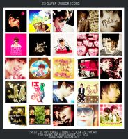 25 SUPER JUNIOR ICONS by doodletimmy