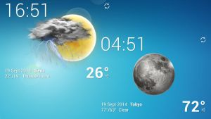 Purity Clock Weather HD 2 WIDE for xwidget by jimking