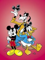 Mickey, Donald and Goofy by KneonT