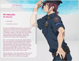 [Skins] Free! Police Rin by NotLucy