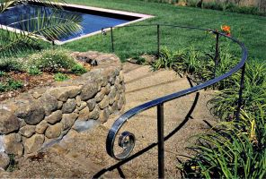 Stainless Pool Railing by ou8nrtist2