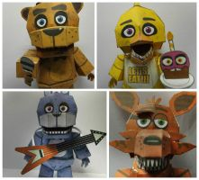 five nights at freddy's papercraft updates by Adogopaper