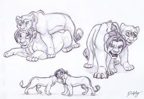 Jim and Dolphy lion scribbles by DolphyDolphiana