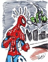 Spider-man: Watch out!! Green Goblin by Tazartist19