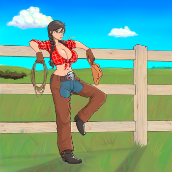 commission: cowgirl by Hob-kun