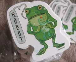 Frog Robot Sticker by miorats