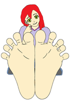 Mary Jane shows off her feet by ChipmunkRaccoon2